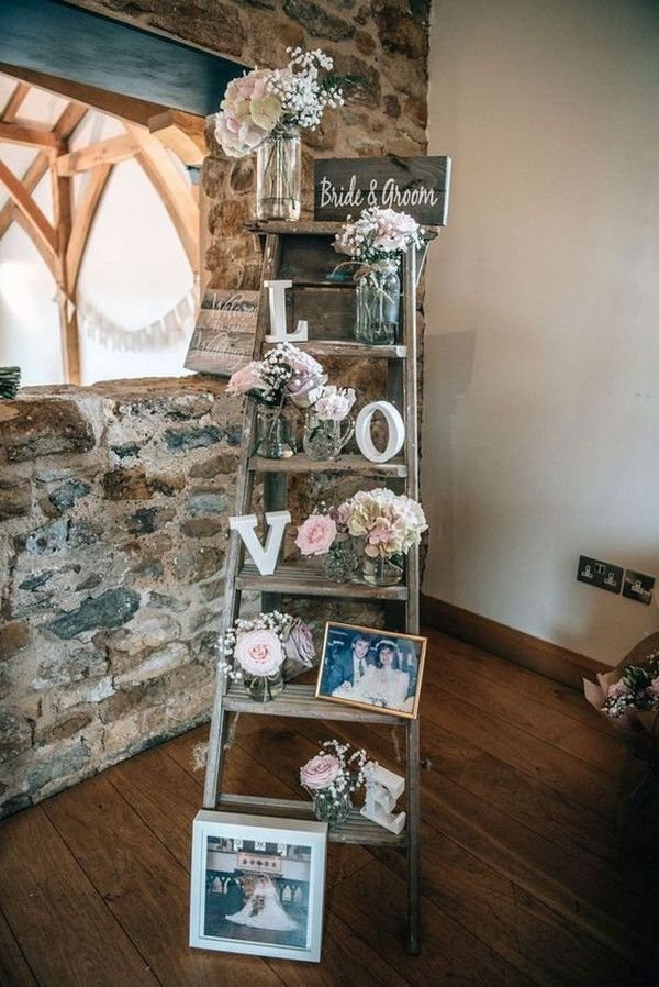 20 Vintage Rustic Wedding Decoration Ideas with Ladders