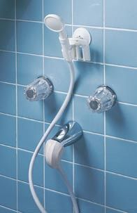 Hand Held Portable Shower converts tub spout to a shower.