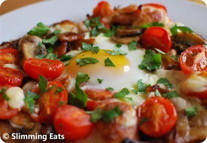 Breakfast Hash Brown Pizza   Slimming Eats - Slimming World Recipes
