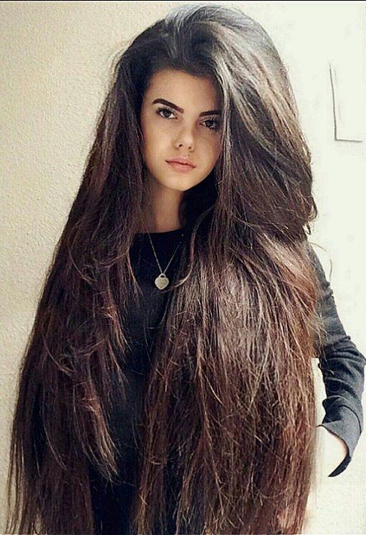 Full body straight hairstyle ideas for women 2019   Really long hair, Beautiful long hair, Big hair