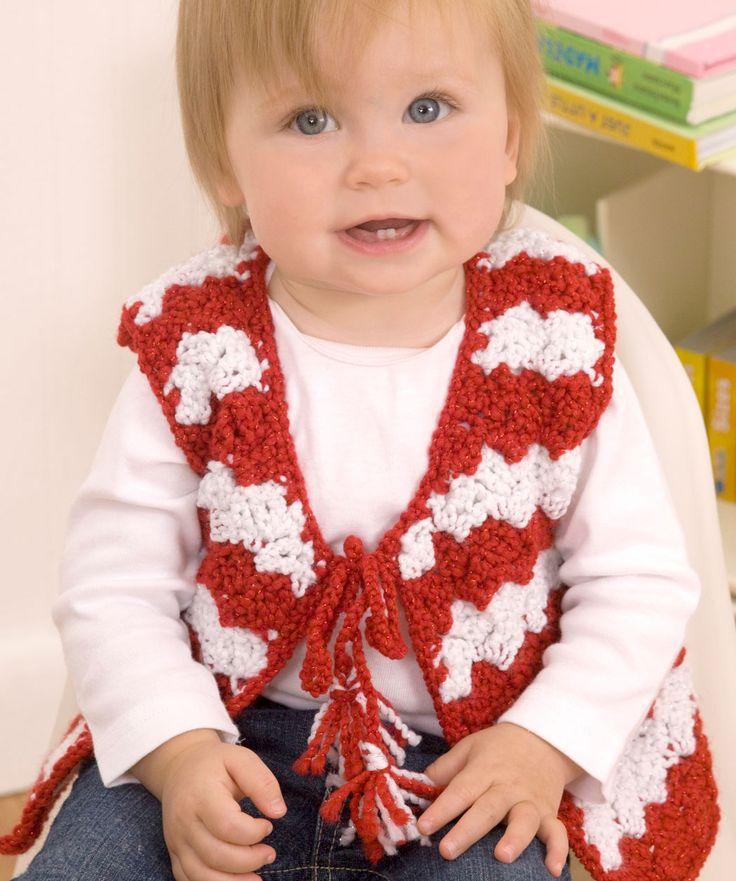 Crochet Pattern. Baby Candy Stripe Vest. FREE