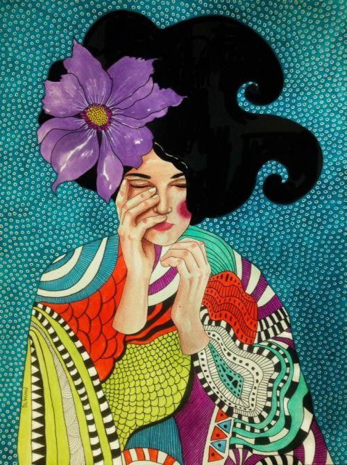 Les dones que il·lustra Hülya Özdemir són espectaculars, belles i estan immerses dins de l'escenografia que les acompanya. Modernes o ...