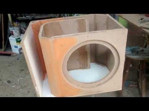 "caixa duto labirinto alto falante de 12"" - YouTube"