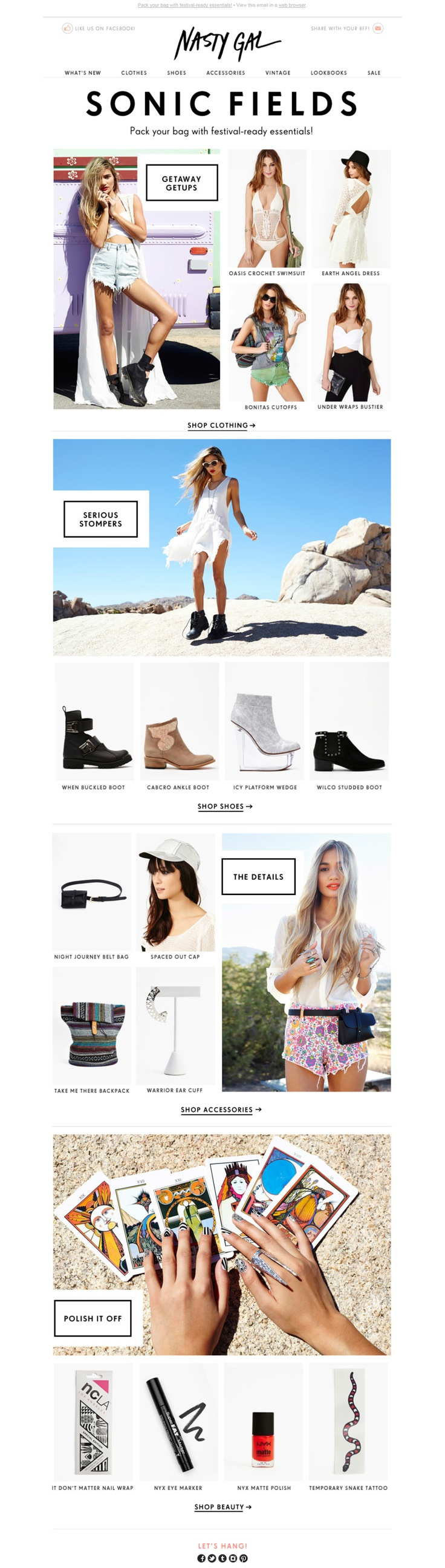 Nasty Gal's newsletter - Sonic fields