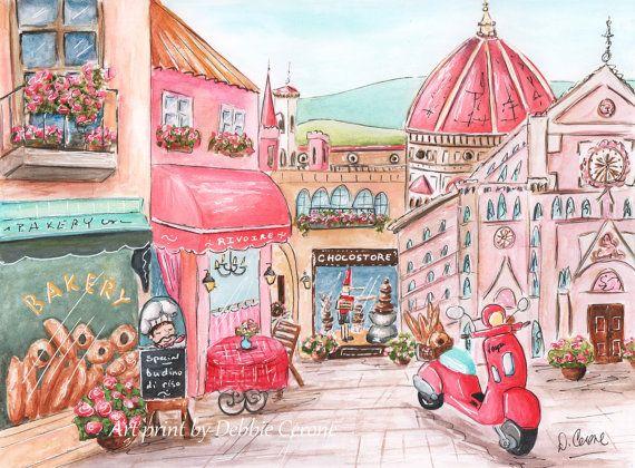 Pink Travel Themed Nursery Art For Girl by NurseryRembrandts