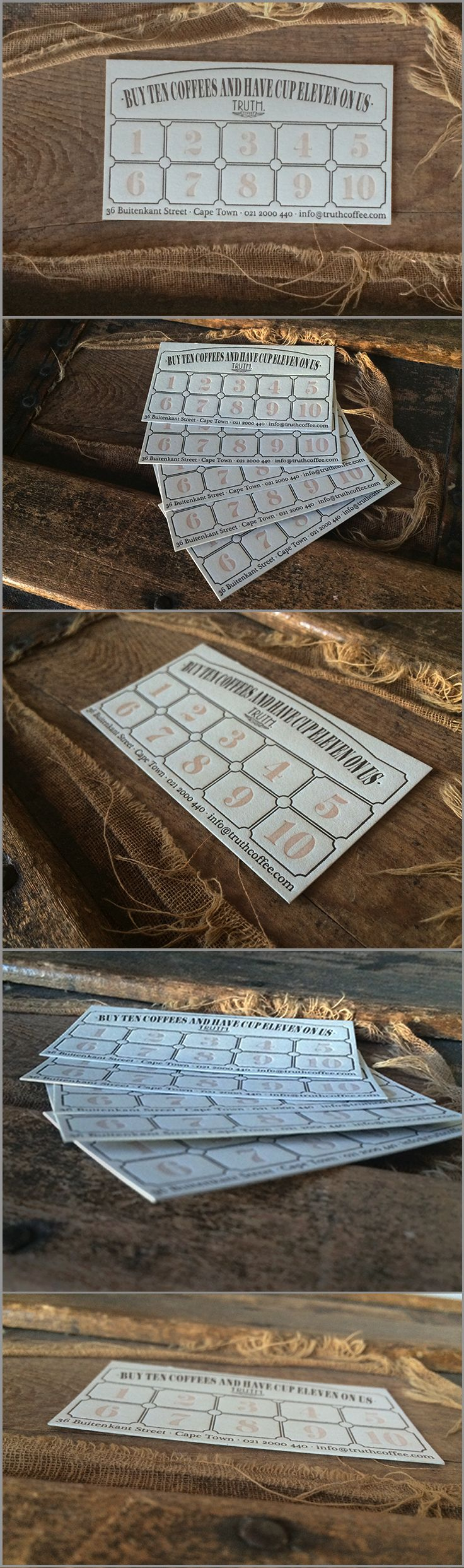 and Truth got new loyalty cards! Truth Coffee Letterpress Card Design