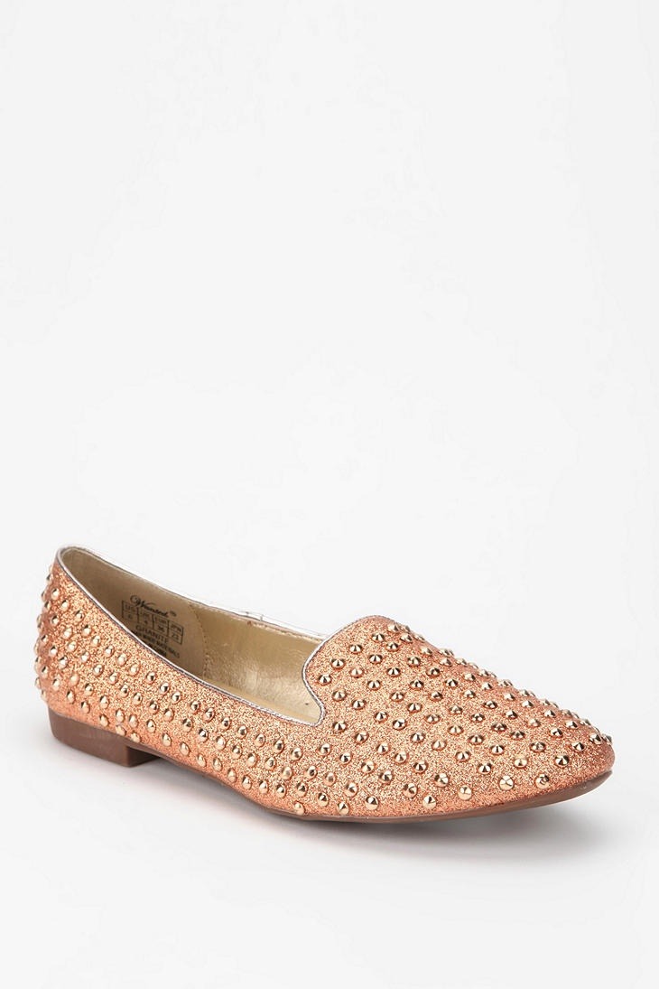 Wanted Glitter Stud Loafer - glittery studded loafers = obsession.