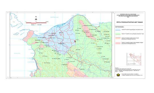 <b>Peta Produktivitas Airtanah Banda Aceh - Aceh Besar</b><br>Ukuran File: 5007.91 Kb Sumber: Badan Geologi<p>Login terlebih dahulu untuk mengunduh peta ini</p>