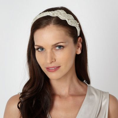 No. 1 Jenny Packham Designer cream vintage style twist headband- at Debenhams.com