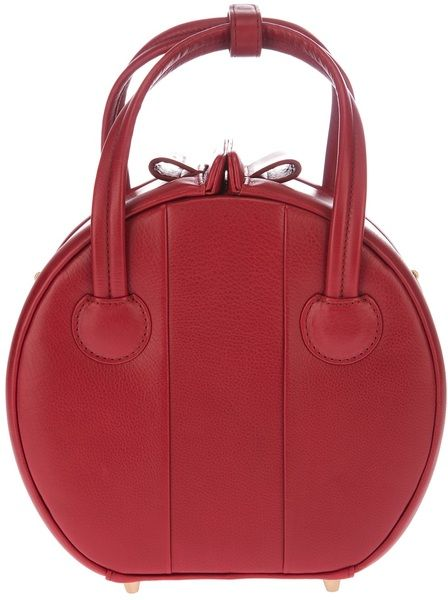 Marc By Marc Jacobs Red Circular Tote Bag