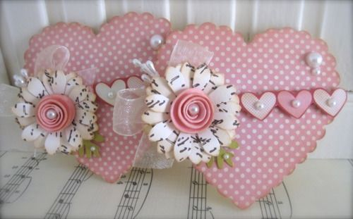 Heart Embellishments...VSROSES - One of a kind hand made paper crafts