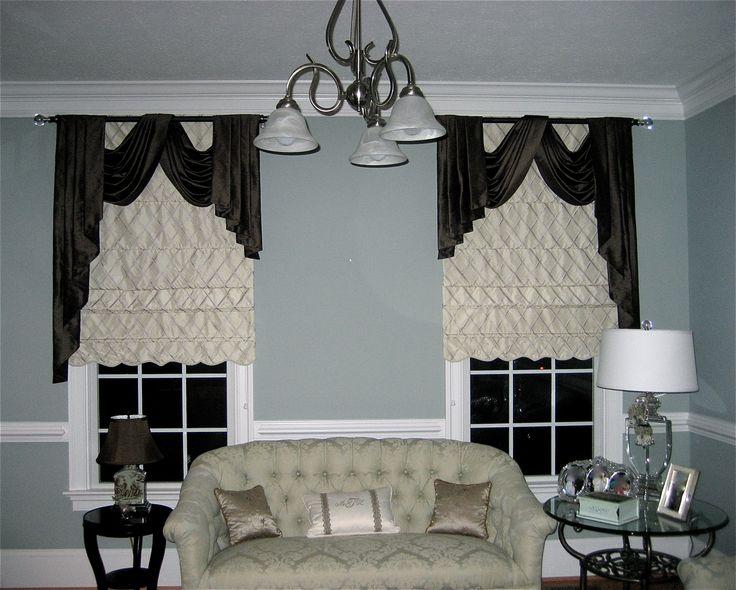 Curtains Ideas curtain rod roman shades : Custom Roman Shades, Curtain Rods &Top Treatments By Wyshmoor ...