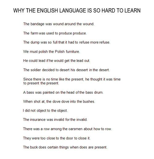 why english is so different from other languages The language is so melodious that other kenyans find it fascinating to listen to sheng it is a mixture of swahili and english, with a sprinkling of other indigenous languages.