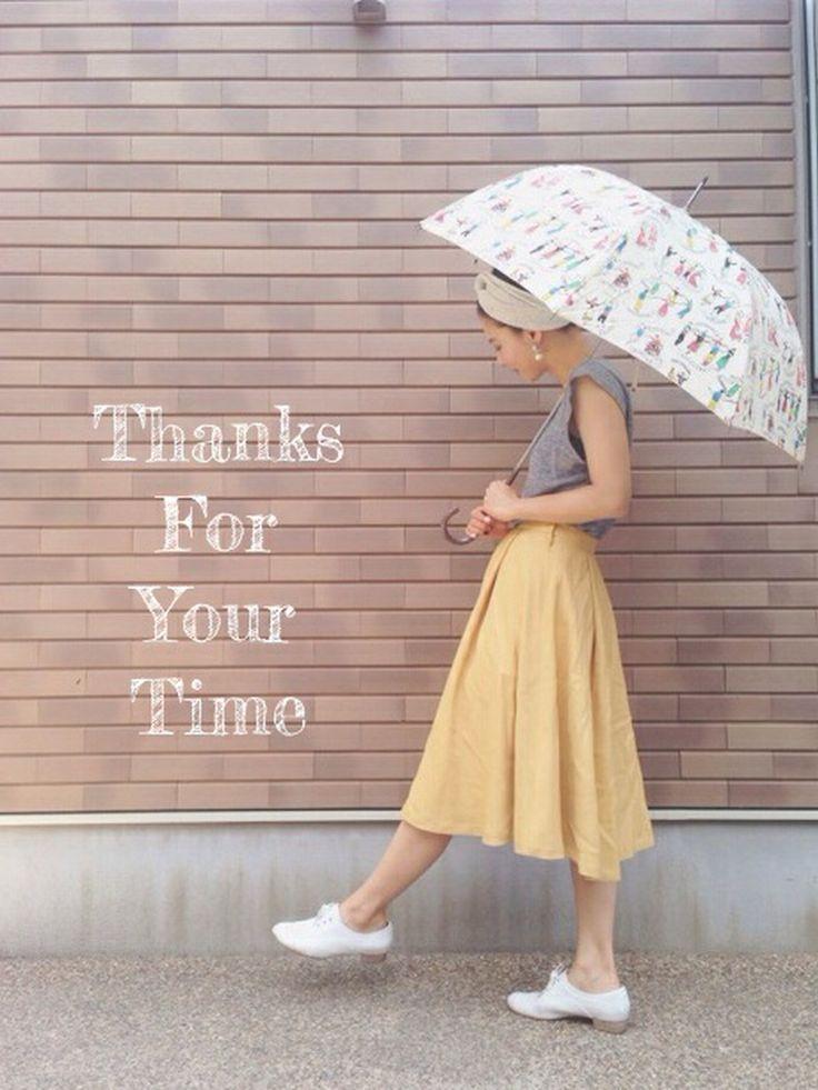 Par Avionの長傘を使ったemaemiさんのコーディネートです。│お気に入りのパラビオンの♡