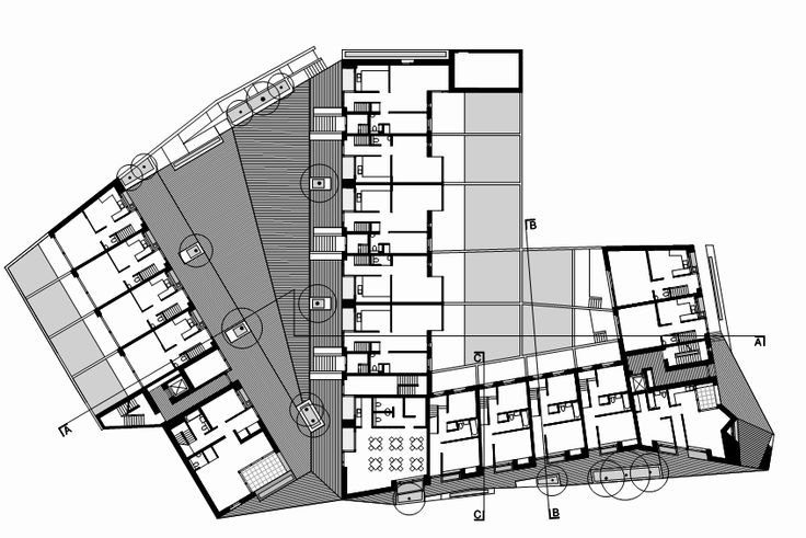 Timberyard Social Housing / O'Donnell + Tuomey Architects - ground floor plan