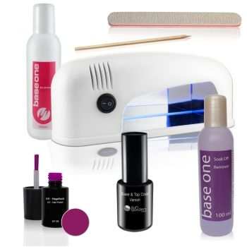 Superb UV Nagellack Set inkl UV Lampe Travel