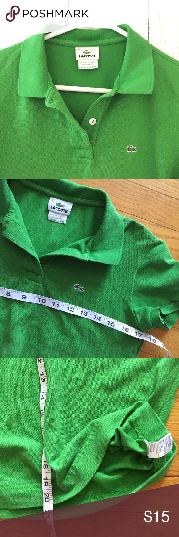 Lacoste Sz 40 medium lime green polo shirt Great condition!! Measurments are posted on the pictures Lacoste Tops Blouses