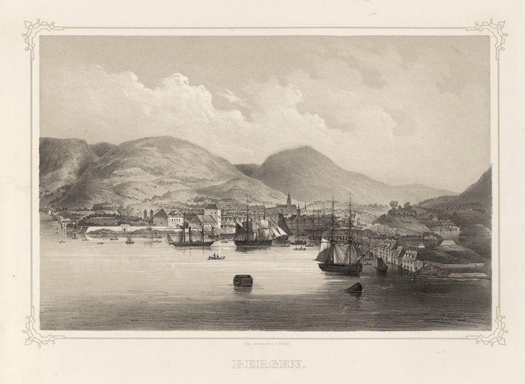 Norge fremstillet i Tegninger - Ukjent - Bergen. jpg (4833×3537)