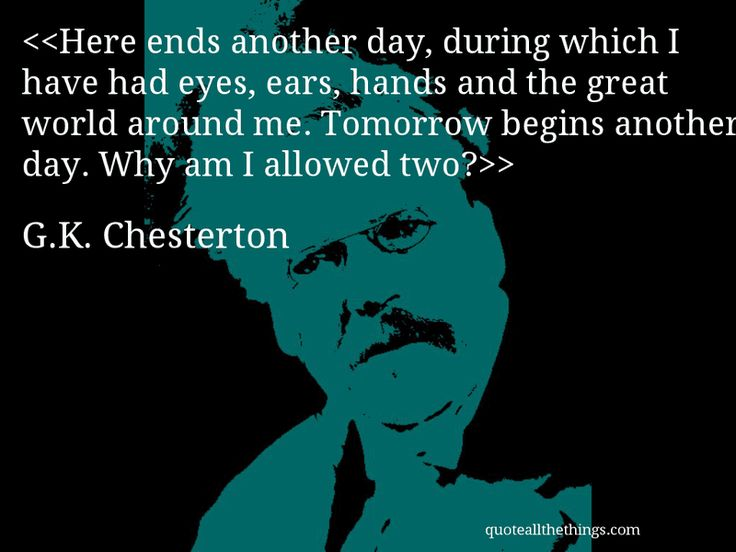 Great G.K. Chesterton quote