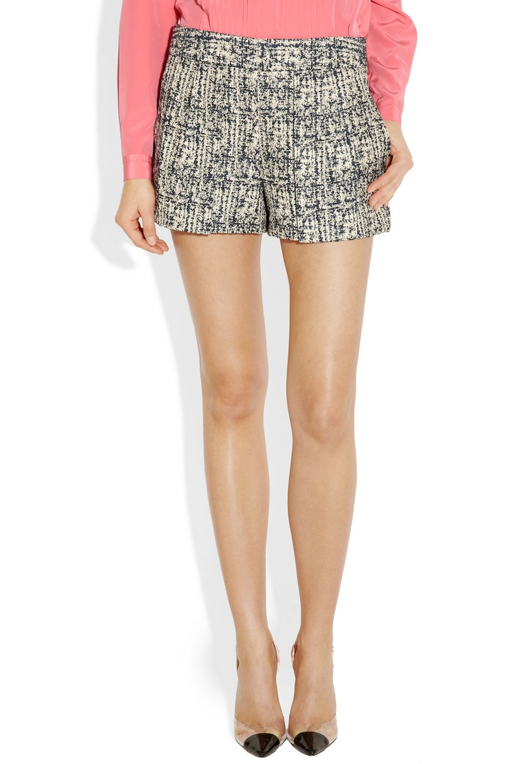 Proenza Schouler cotton-blend tweed shortsfor comfortable sight seeing #holtspintowin