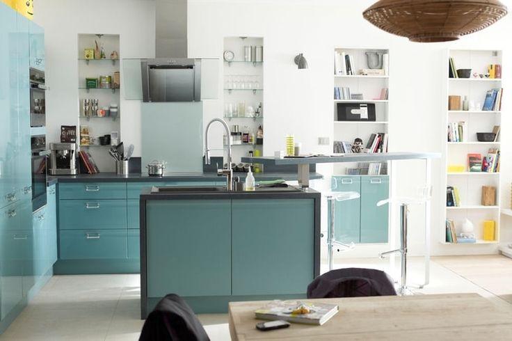 Îlot de cuisine Delinea de Leroy Merlin   cuisine ouverte   Pinterest