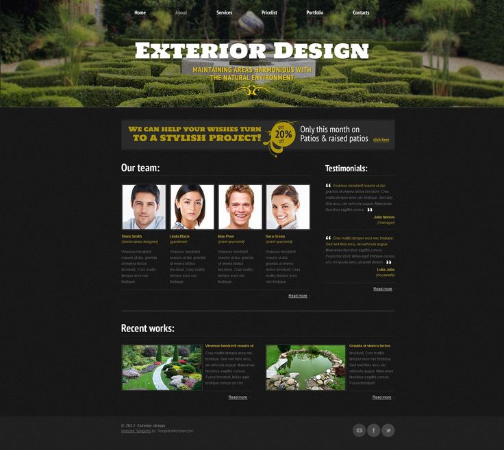 free responsive html css website templates template for exterior design