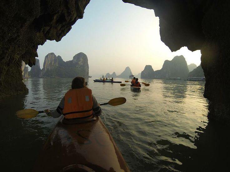An evening kayak around Ha-Long Bay in Vietnam. ©Alan Wright.