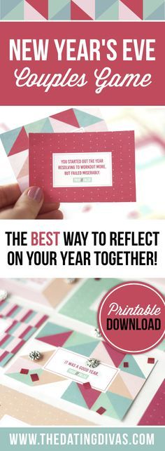 I've been looking for a fun way to reflect on our year together! This game is perfect for our New Year's Eve Date Night!