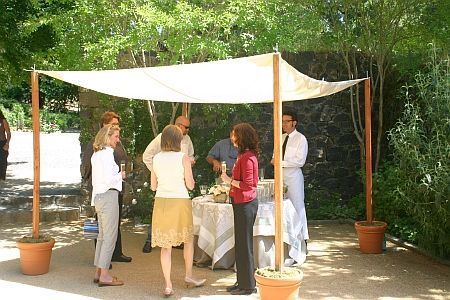 good thought utilizing the potted crops for the bottom of a DIY awning – Gardening For Y…