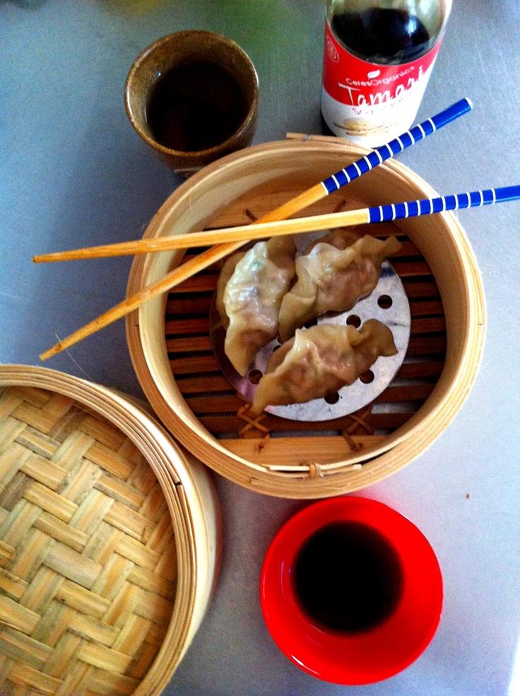 mima + moo : pork and corriander dumplings