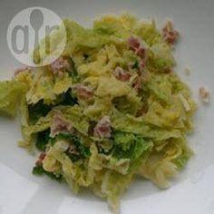 Romige savooiekool met bacon @ allrecipes.nl