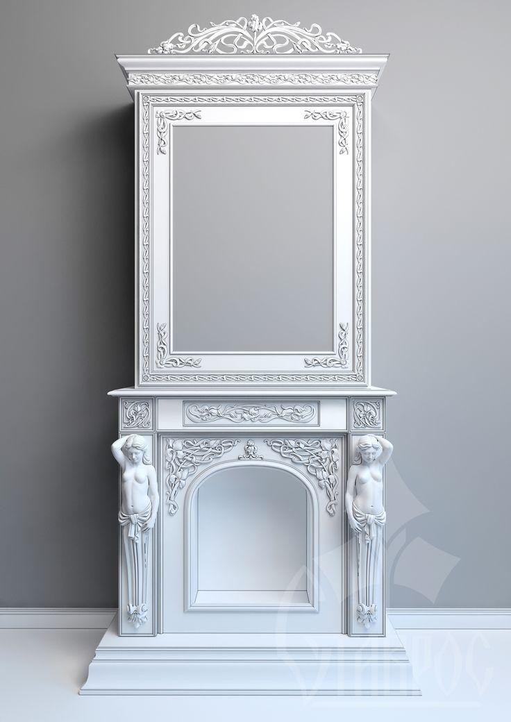 "Дизайн-проект резного камина в стиле ""Модерн"" от компании ""Ставрос"""
