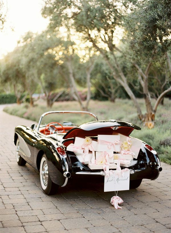 Wedding Trends: Transportation... drive away in style.. or maybe show up to your wedding in style... either way, it's a win win! This car is beautiful, but no way near as amazing as ANY bride on her wedding day! :)
