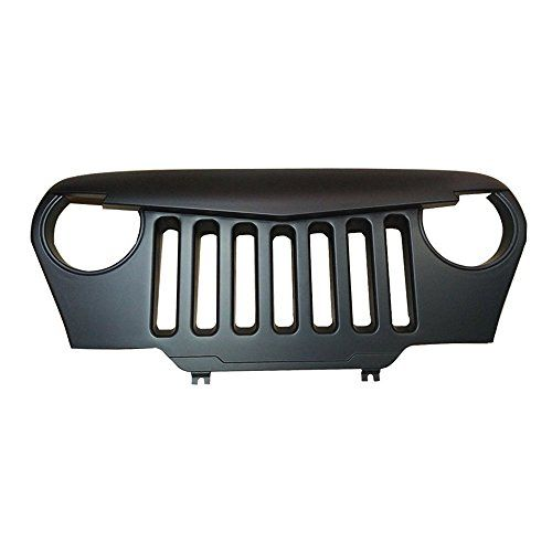 u-Box Angry Bird Front Grille in Matte Black for 1997 - 2006 Jeep Wrangler TJ & Unlimited  Fits for 1997-2006 Jeep Wrangler TJ  Pre-drilled, perfectly match with original mounting holes,made of high quality ABS material  Perfectly combine the grille with Insect net,better protection  Add a tough Angry Bird look to your Wrangler  Matte black finish and paintable to match your specific vehicle color