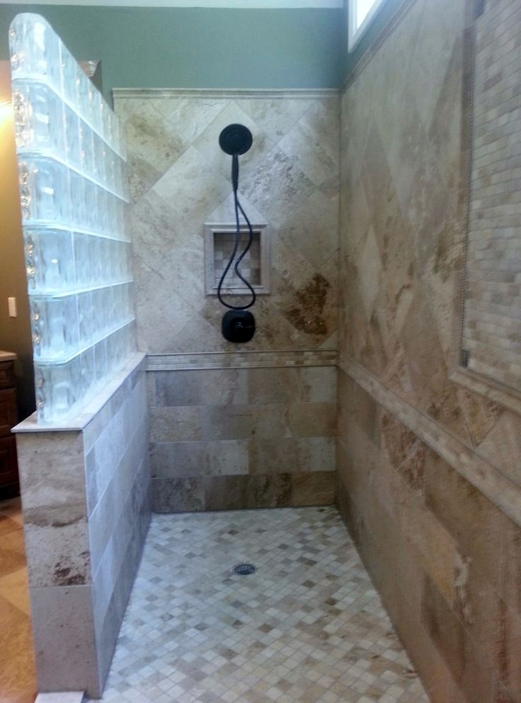 790 best images about bathroom shower ideas on pinterest shower doors glass block shower - Bathtub in shower ...