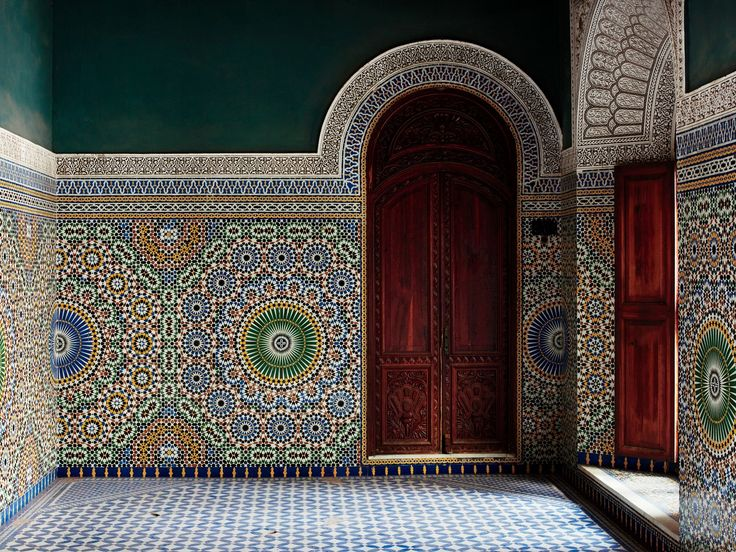 Fez, Morocco - The Palais El Mokri was built in 1906 by Si Tayeb el Mokri, Pasha to Casablanca and son of the Grand Vizir of the King.
