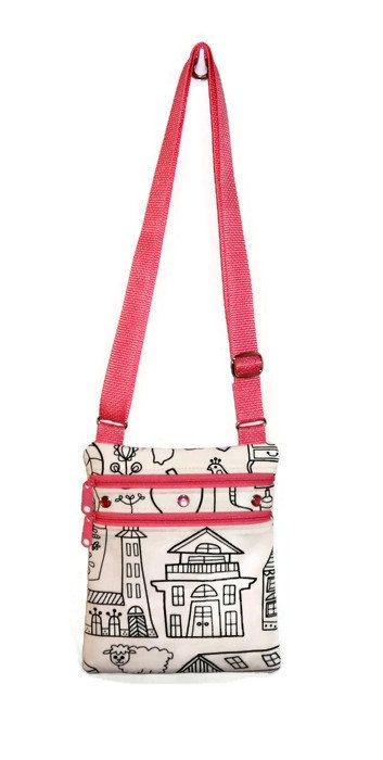 Color Me Bag Purse Personalized Bag Little Bag Sling by CitySewist