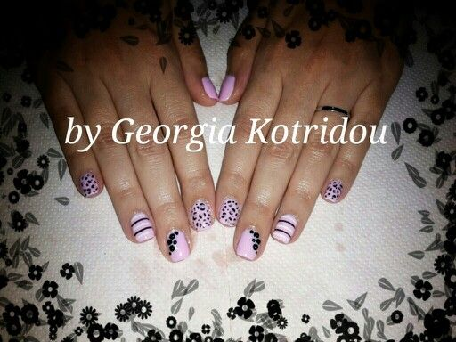 Sweety pink nails