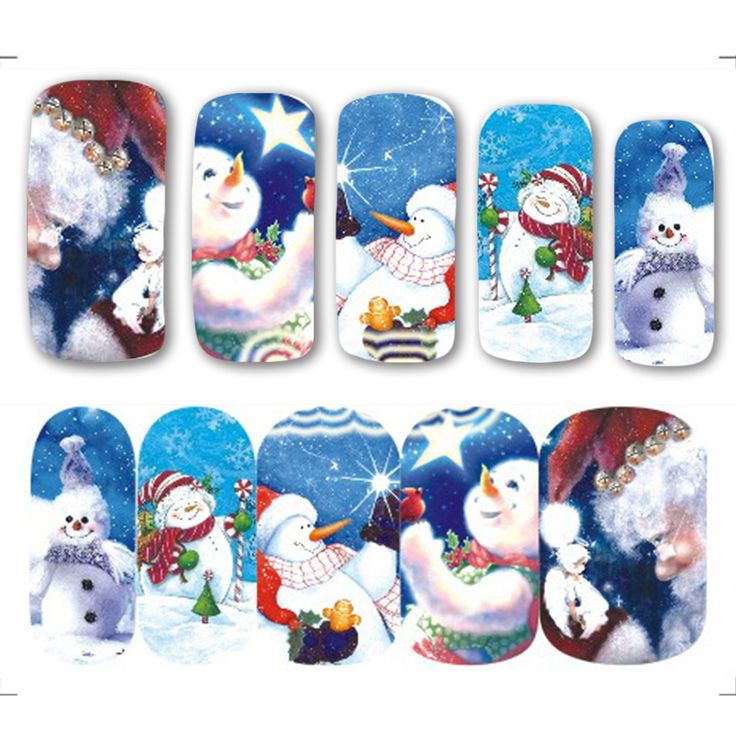 1pcs New Year Christmas Theme Water Transfer Nail Sticker White Snowman DIY Full Cover Wraps for Nail Art Decals A1150 #clothing,#shoes,#jewelry,#women,#men,#hats,#watches,#belts,#fashion,#style