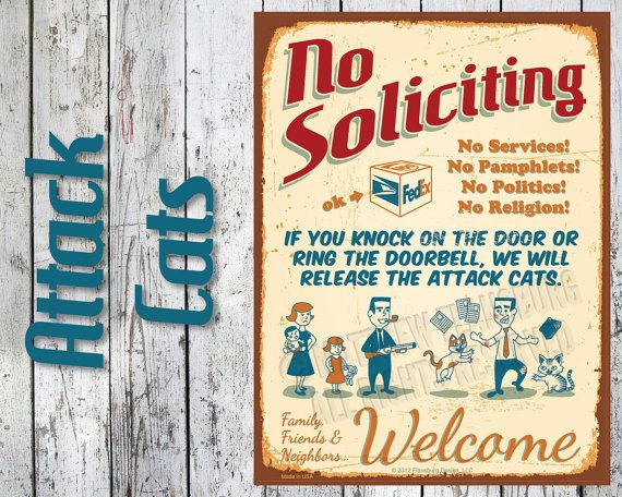 11 Best No Soliciting Signs Images On Pinterest No
