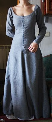 Medieval dress: very simple, with stitching on front.