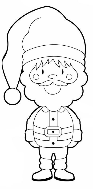 ausmalbild weihnachten weihnachtsmann kostenlos