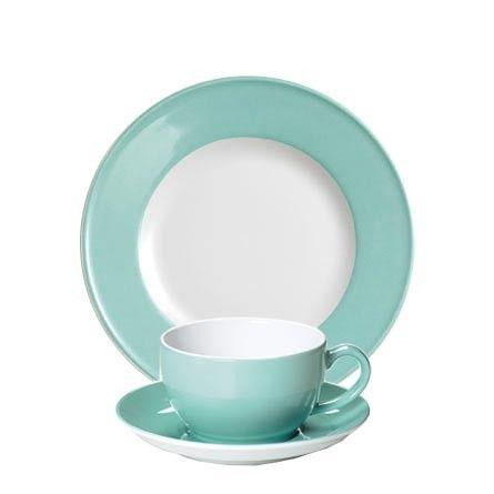#Dibbern Solid Color Türkis - Frühstücksgedeck