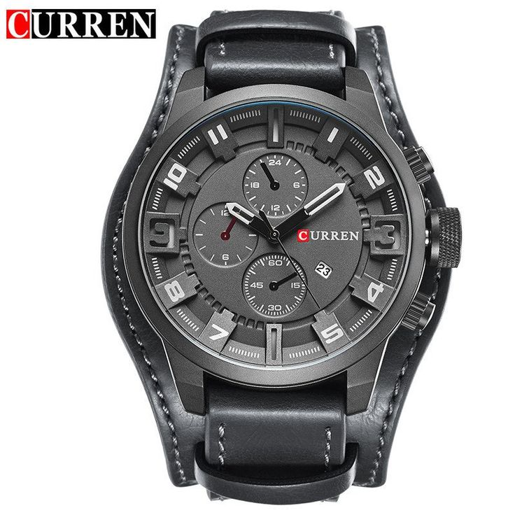 Item Type: Quartz WristwatchesModel Number: 8225Brand Name: CURRENWater Resistance Depth: 3BarCase Shape: RoundBand Material Type: LeatherBoxes & Cases Mate