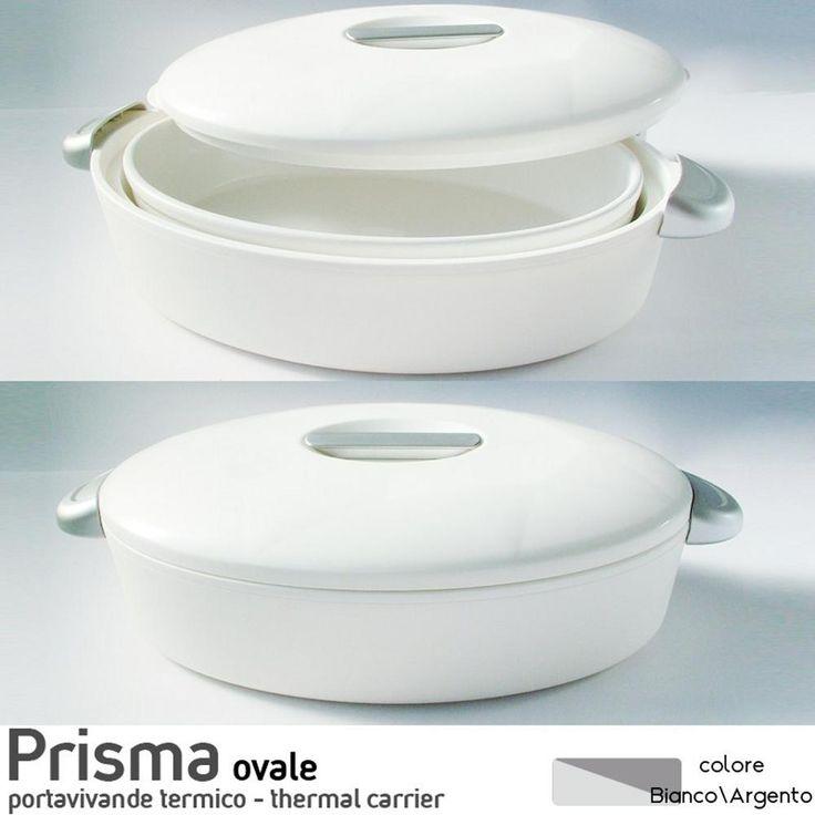 Contenitore Termico Ovale per alimenti con pirofila in porcellana Prisma 3Litri | Enjoy Ater | Stilcasa.Net: contenitori termici