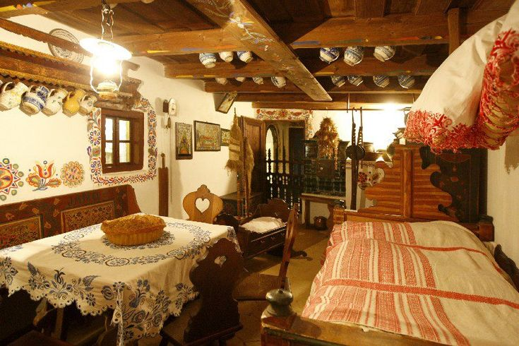 Slovak Traditional Room Interior Design Folklore Czech