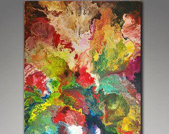 17 mejores ideas sobre pinturas de acr lico abstractas en for Pintura verde aguamarina