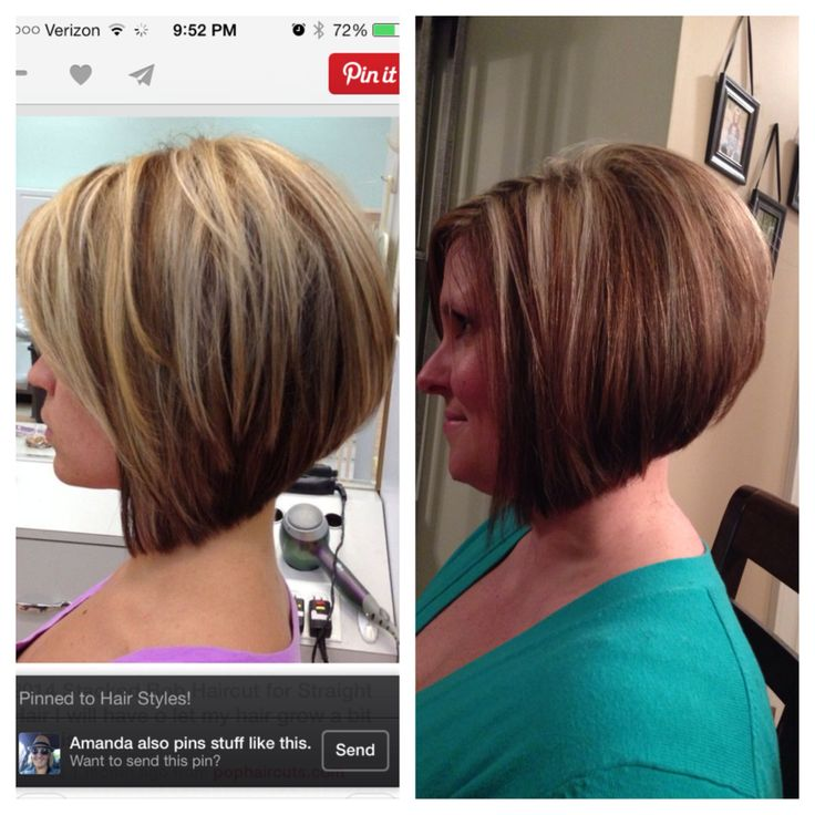 Angled Bob Hairstyles angled bob hairstyle curled Layered Angled Bob This Is For Contrast I Like The One On The Left