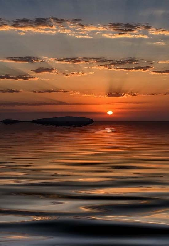 Sunset in Ibiza, Spain