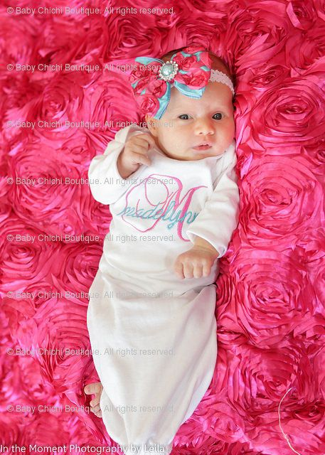 Newborn girl gown Infant gown Baby girl gown Monogrammed gown Personalized gown Take home outfit Newborn Girl Gift by BabyChichiBoutique on Etsy https://www.etsy.com/listing/90934373/newborn-girl-gown-infant-gown-baby-girl